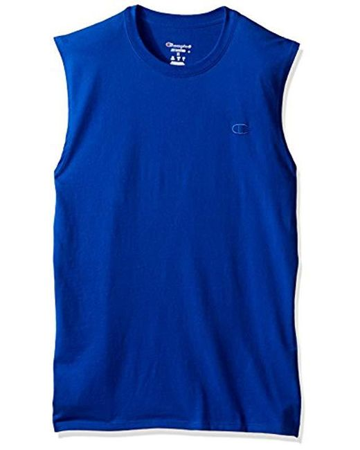 be9c69bbcb6d Lyst - Champion Classic Jersey Muscle T-shirt in Blue for Men - Save ...