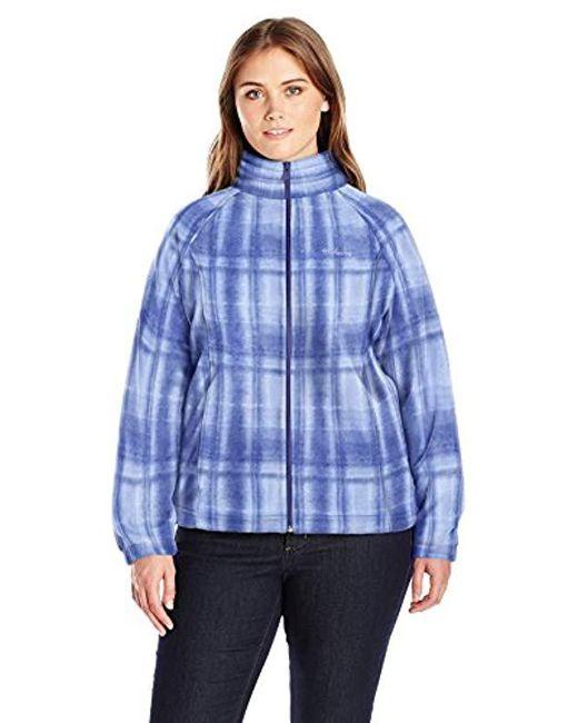 Columbia - Blue Plus-size Benton Springs Print Full Zip Plus - Lyst