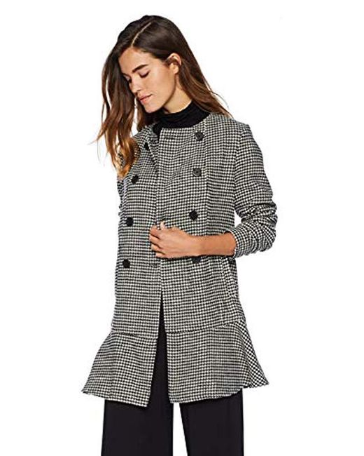 BB Dakota - Black What's Your Damage Houndstooth Coat - Lyst