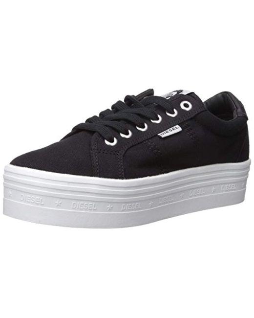 DIESEL - Black Casual Sneaker for Men - Lyst
