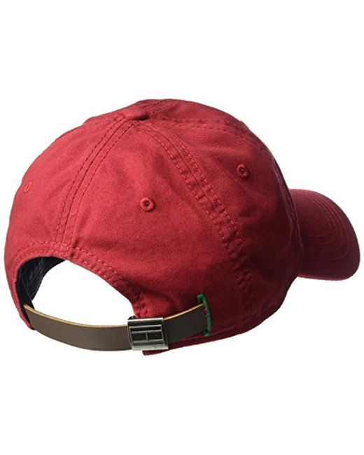 5581ff2b3135d Tommy Hilfiger Logo Dad Baseball Cap in Red for Men - Lyst