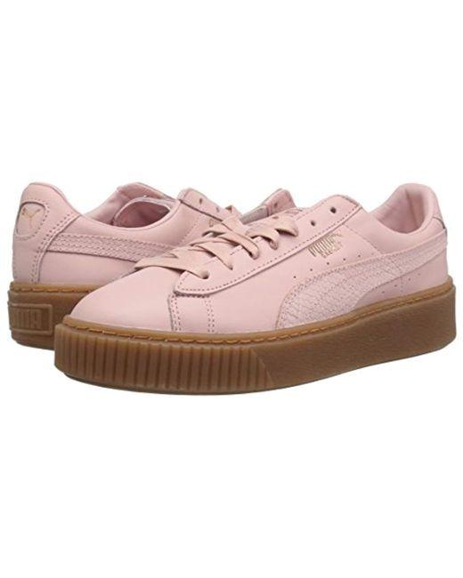 Lyst - PUMA Basket Platform Euphoria Gum Trainers in Pink - Save 64% b09499cc1
