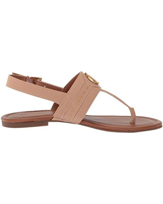 b486de75717e Lyst - Tommy Hilfiger Sher Flat Sandal in Brown - Save ...