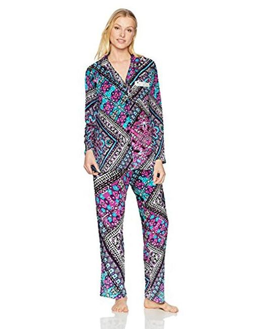 Ellen Tracy - Blue Velour Pajama Set - Lyst