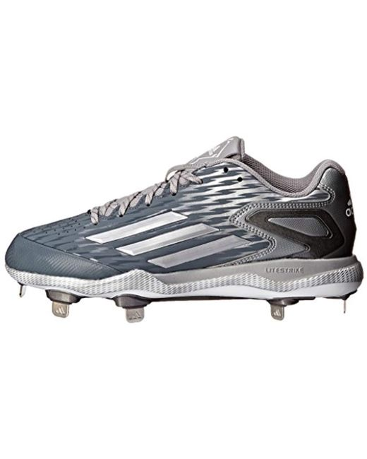 new products ccead 945a5 ... Adidas - Gray Performance Poweralley 3 Baseball Shoe for Men - Lyst ...