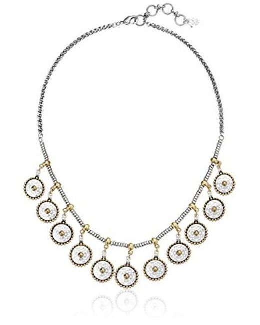 Lucky Brand - Metallic Collar Necklace (two-tone) Necklace - Lyst