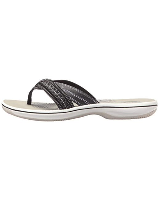75917f070105 Lyst - Clarks Brinkley Nora Flip Flop in Black - Save 45%