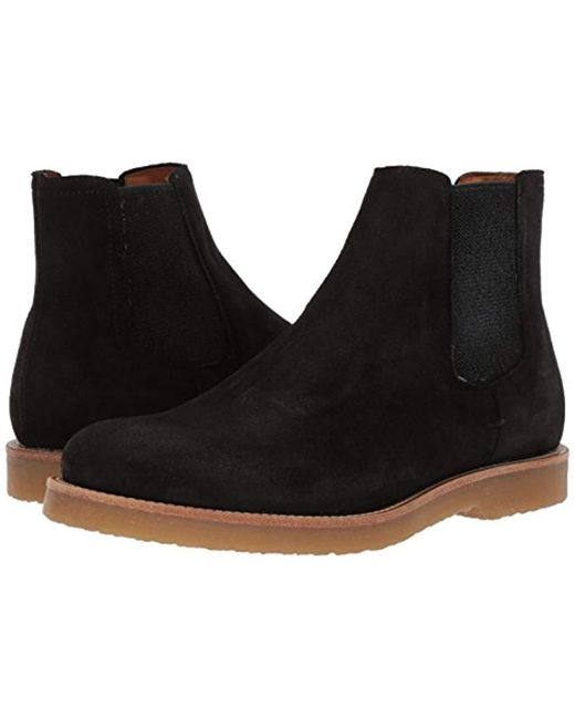 3c6174f7af2c ... BOSS - Gray Cuba Chelsea Boot In Suede Construction Shoe for Men - Lyst  ...