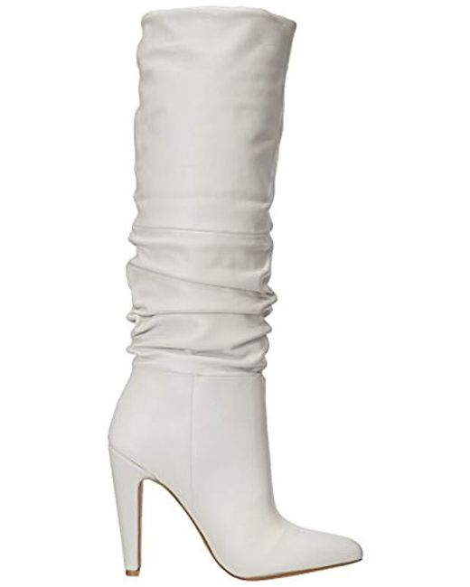 cf297489686 Lyst - Steve Madden Carrie Slouch Boot in White - Save 29%