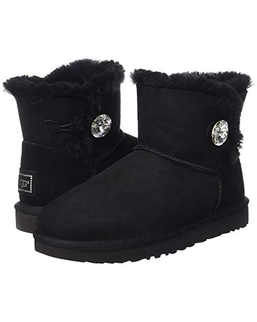 cfa20c2d919 Lyst - UGG Mini Bailey Button Bling Winter Boot in Black - Save 3%