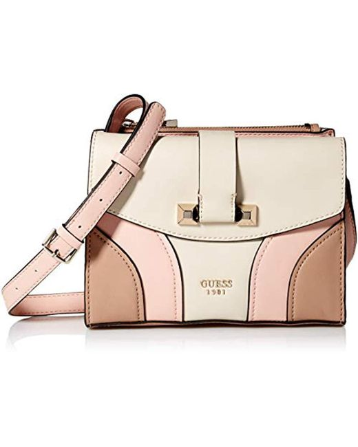 e9c902f83a7 Guess - Natural Islington Crossbody Flap - Lyst ...