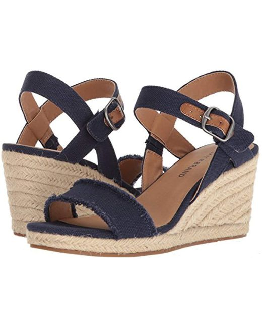 19e4b3c1f78 Lyst - Lucky Brand Mindra Espadrille Wedge Sandal in Blue - Save 52%