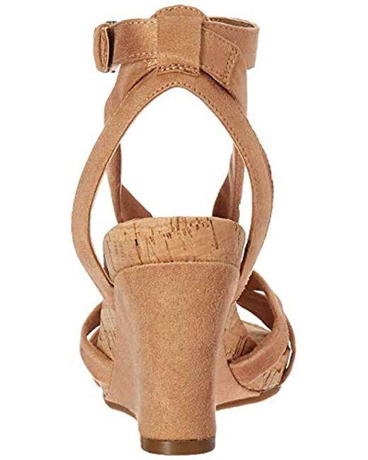 cedd865c92 ... Aerosoles - Multicolor Fashion Plush Wedge Sandal - Lyst ...