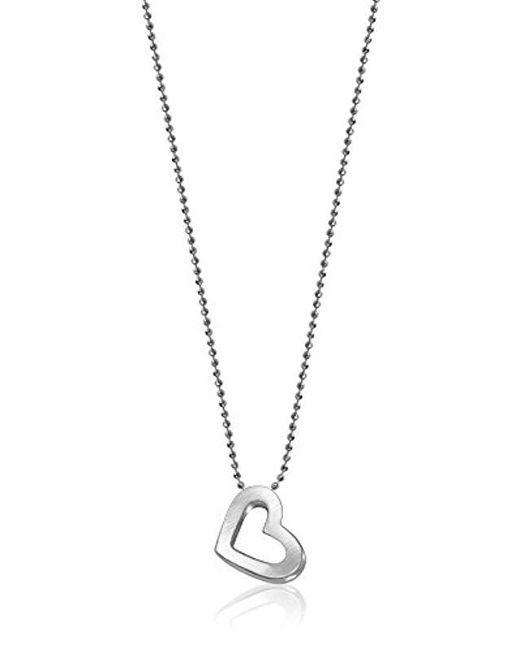 Alex Woo - Metallic Elements Heart Pendant Necklace - Lyst