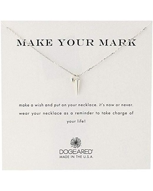 Dogeared - Metallic 'make Your Mark' Spike Charm Bead Chain Necklace - Lyst