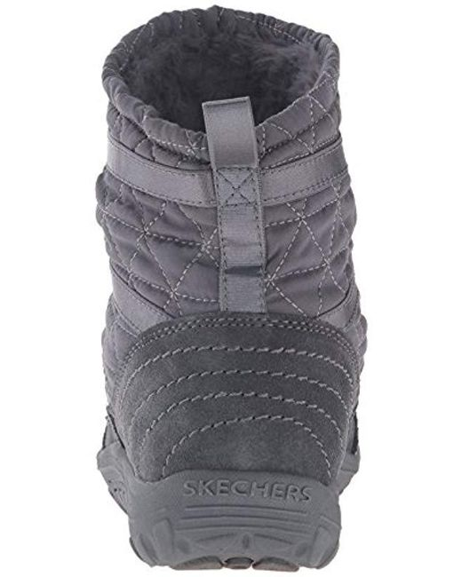 ef3d3caf51c17 ... Skechers - Gray Reggae Fest Steady Quilted Bungee Ankle Bootie - Lyst  ...