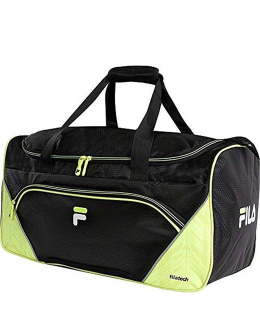 Fila - Black Voltage Medium Duffel Gym Sports Bag Gym Bag for Men - Lyst e9b49356272ce