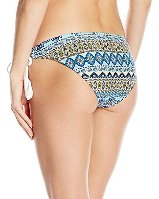 38f00c34c8 ... Jessica Simpson - Blue Versailles Mitered Side Tie Hipster Bikini Bottom  - Lyst
