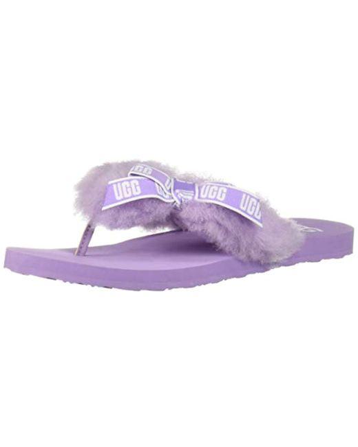 11691736753 Lyst - UGG Sunset Graphic Flip-flop in Purple