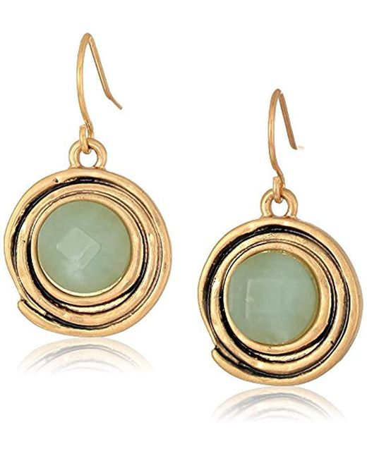 The Sak - Metallic Color Orbit Amazonite Drop Earrings - Lyst
