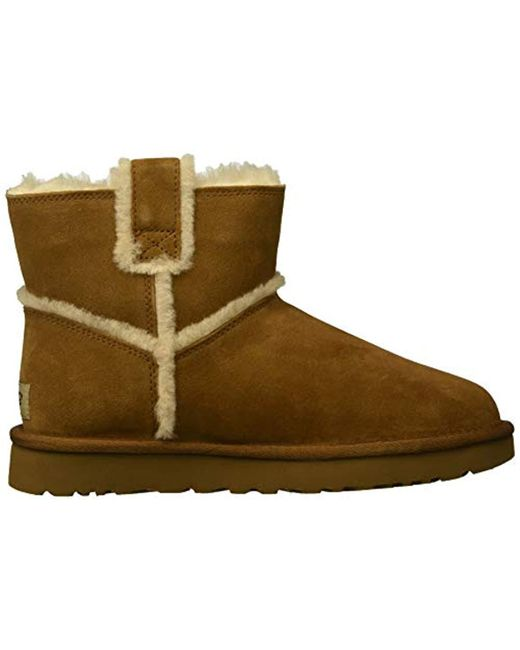 011d56500467 ... coupon for ugg brown w classic mini spill seam fashion boot lyst f16e2  bdae3