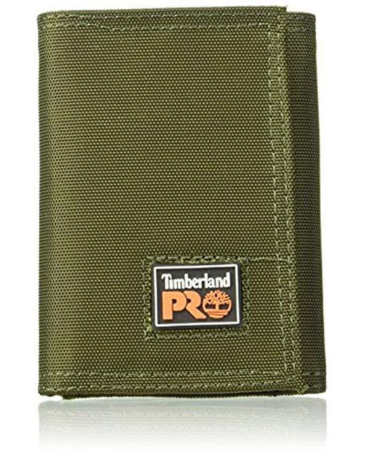 lyst timberland cordura velcro nylon rfid trifold wallet with id