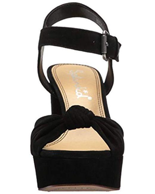 090a7f3bf98e Lyst - Splendid Bates Suede Platform Sandals in Black - Save 66%