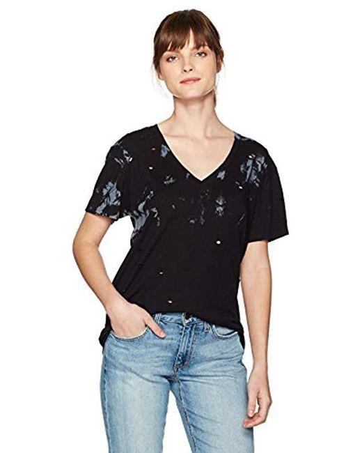 Guess - Black Short Sleeve Destroyed Tie Dye T-shirt - Lyst