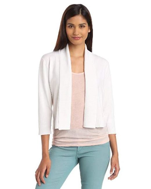 Calvin Klein White Shrug Sweater
