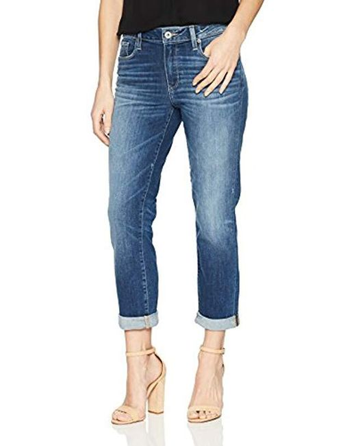 PAIGE - Blue High Rise Jimmy Crop Jeans - Lyst