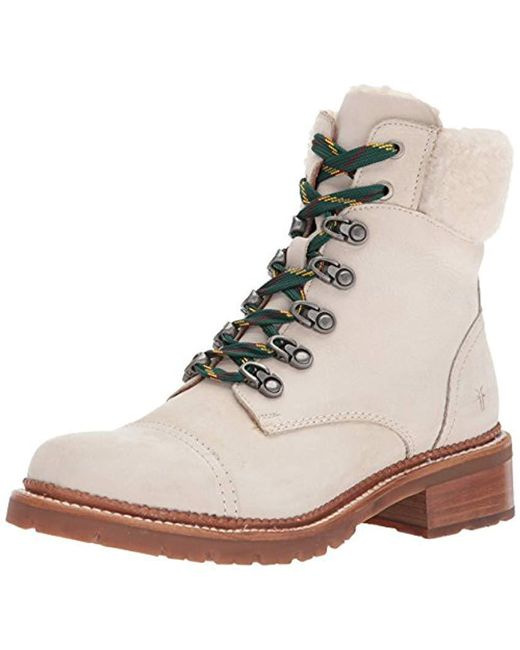 Frye - White Samantha Hiker Combat Boot - Lyst