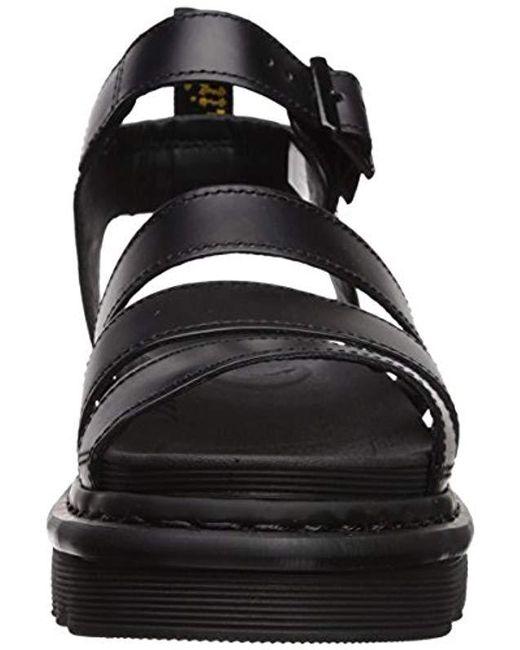 c087502c7b96 Lyst - Dr. Martens Blaire Brando Fisherman Sandal in Black - Save 22%