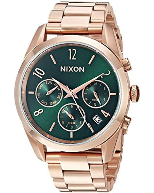 Nixon - Multicolor 'bullet Chrono 36' Quartz Stainless Steel Casual Watch, Color:brown (model: A9492806) - Lyst