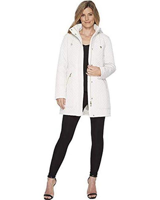 Ivanka Trump - White Quilted Full Raincoat - Lyst