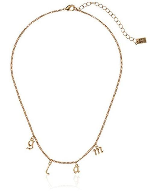 Steve Madden - Metallic S Glam Rolo Lobster Claw Necklace - Lyst