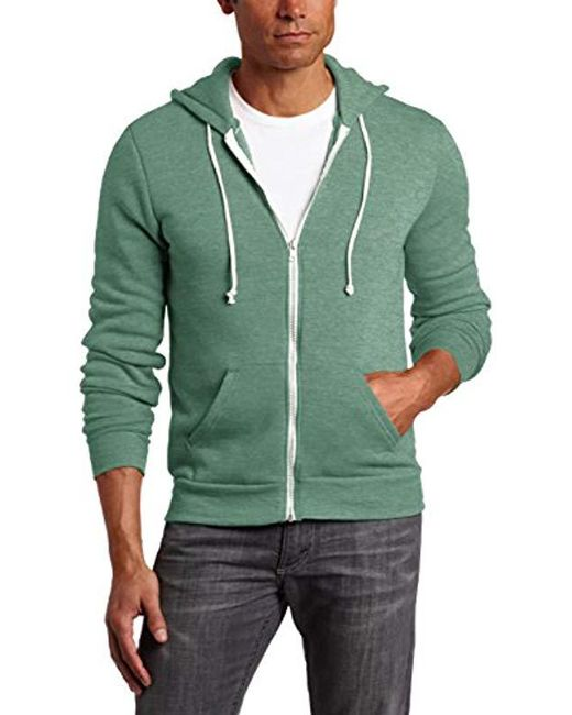 Alternative Apparel - Green Rocky Zip Hoodie Sweatshirt for Men - Lyst