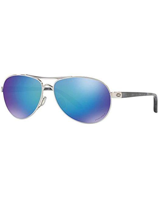 Oakley - Blue Feedback Oo4079 Aviator Sunglasses - Lyst