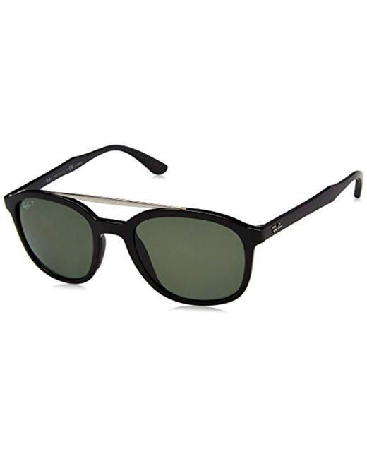 4fd8bf585fb90 Ray-Ban - Black Double Bridge Square Sunglasses for Men - Lyst ...