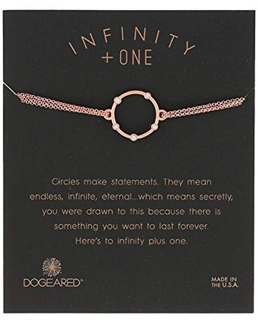 "Dogeared - Metallic Small Halo With Crystals On Chain Bracelet, 6""+1"" Extender - Lyst"