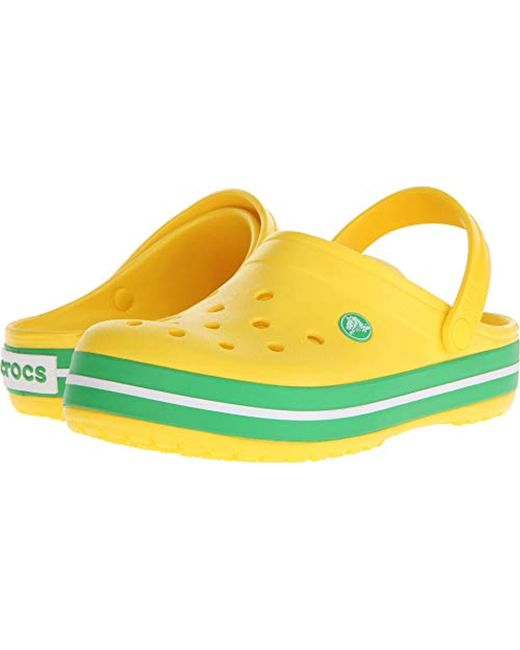 Crocs™ - Yellow Crocband Clogs - Lyst