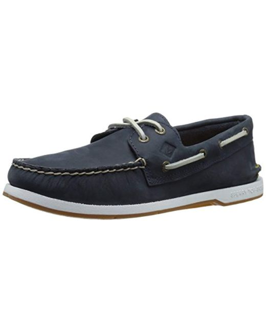 Sperry Top-Sider - Blue Top-sider Captain's A/o 2-eye Boat Shoe for Men - Lyst