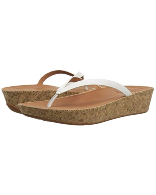 4be26a82ad5d97 ... Fitflop - Multicolor Linny Toe-thong Sandals-leather Wedge - Lyst ...