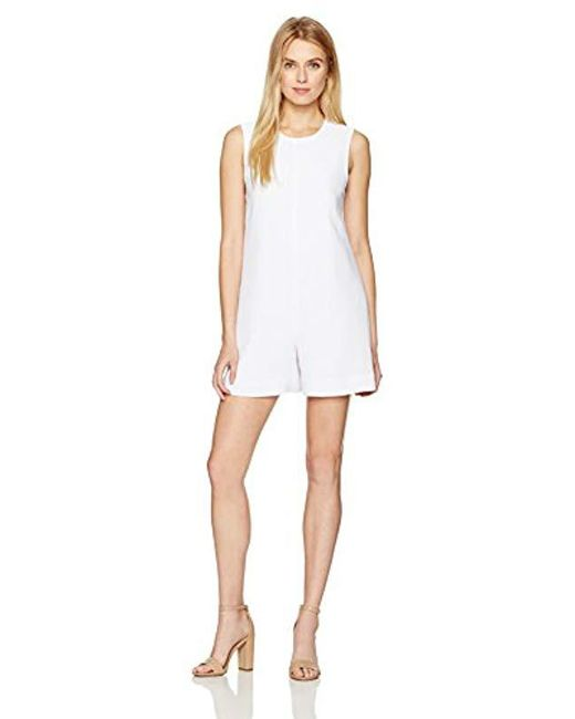 65bf4da1a0b4 Lyst - Kendall + Kylie A-line Open Back Romper in White - Save 29%