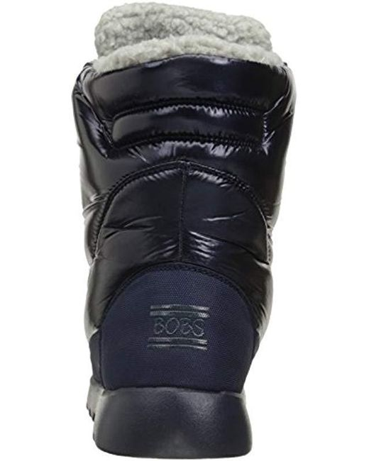 ... Skechers - Blue Bobs From Mementos Snow Cap Cozy Winter Boot - Lyst ... fa8cfda13552
