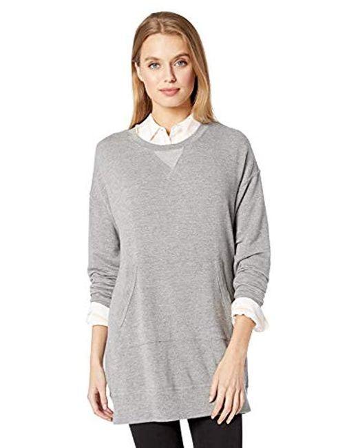 Splendid - Gray Dream Slub Courtside Sweatshirt Dress - Lyst
