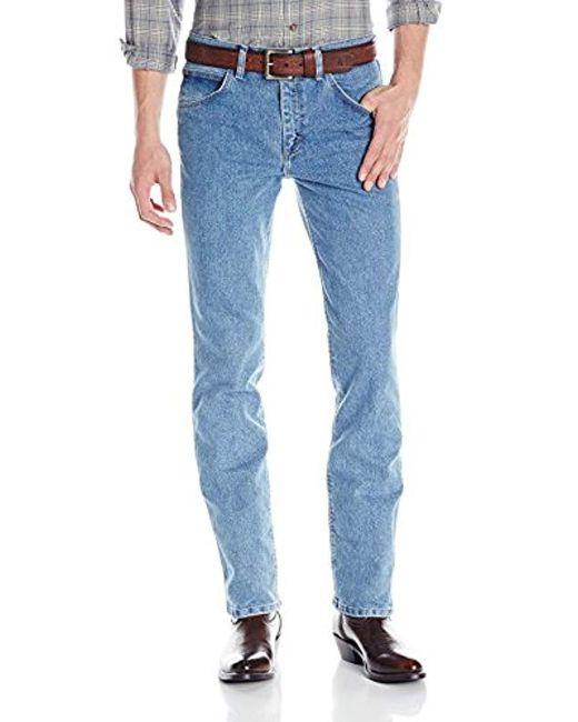Wrangler - Blue Advanced Comfort Cowboy-cut Slim-fit Jean for Men - Lyst