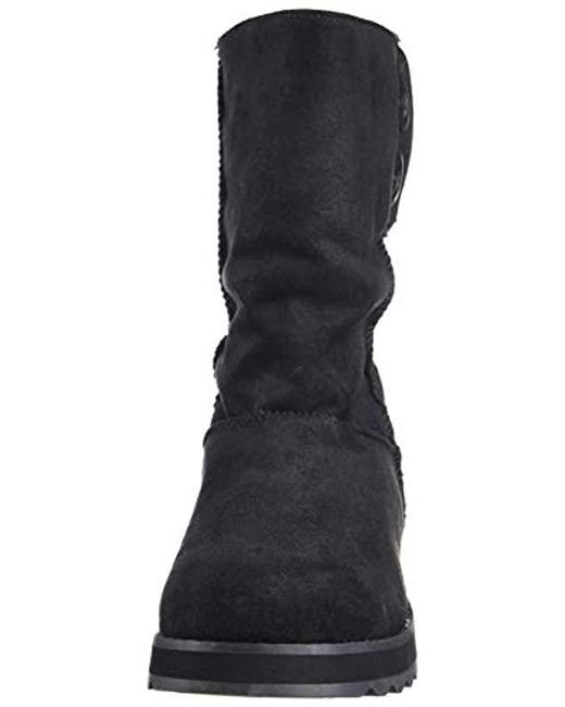 98066c40139e2 ... Skechers - Black Keepsakes 2.0-big Button Mid Slouch Boot With  Microfiber Upper Fashion ...