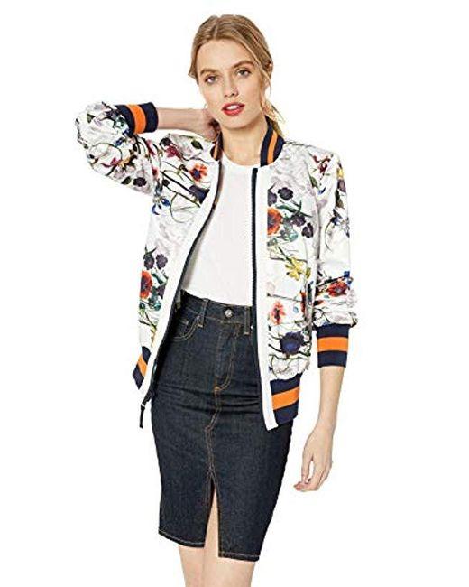 c50a5668098 RACHEL Rachel Roy - Multicolor Floral Bomber - Lyst ...