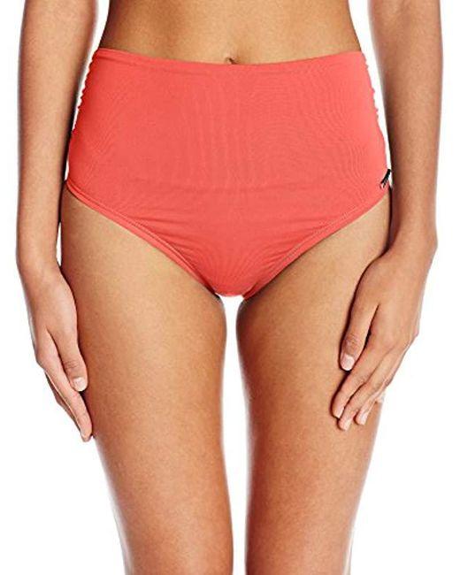 Vince Camuto - Red Convertible High Waist Bikini Bottom Swimsuit - Lyst