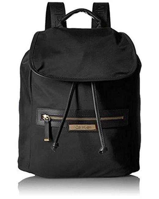 662ac7031589 Calvin Klein - Metallic Key Item Nylon Flap Backpack - Lyst ...